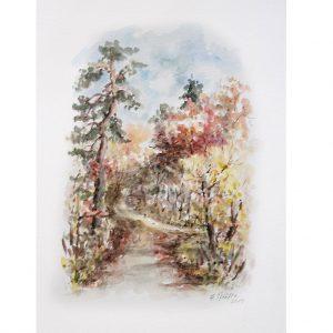 hildegard pfeifle altensteig malerin herbst schwarzwald aquarell