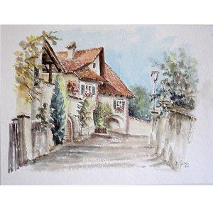 hildegard pfeifle altensteig malerin kaltern südtirol tirol mitterdorf aquarell