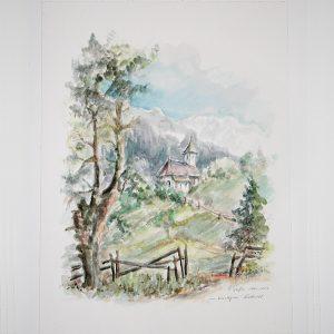 hildegard pfeifle altensteig malerin vinschau südtirol tirol aquarell