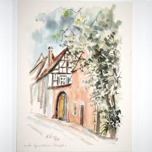 hildegard pfeifle altensteig malerin egisheim elsass frankreich schwarzwald aquarell