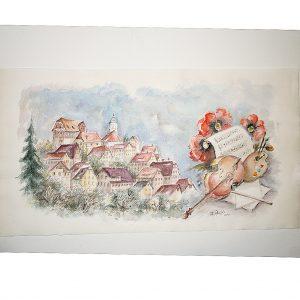 Altensteig, Aquarell von Hildegard Pfeifle
