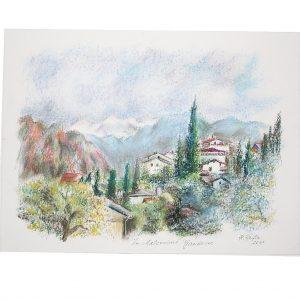 In Malcesine, Gardasee, Pastell von Hildegard Pfeifle