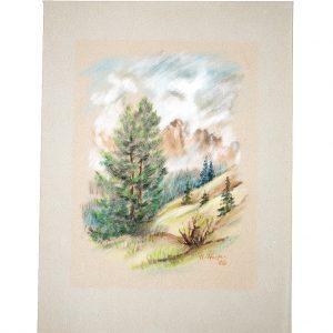 Im Gebirge, Pastell von Hildegard Pfeif