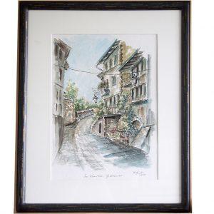 gardasee, italien, urlaub, sonne, romantisch, architektur, landschaftsmalerei, hildegard pfeifle, aquarell
