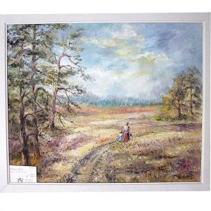 landschaftsmalerei, ölgemälde, schwarzwald, nordschwarzwald, hildegard pfeifle, dorfidylle, dorf