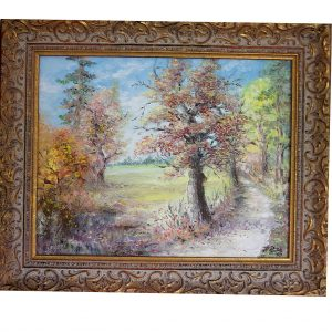 landschaftsmalerei, herbst, schwarzwald, nordschwarzwald, ölgemälde, hildegard pfeifle