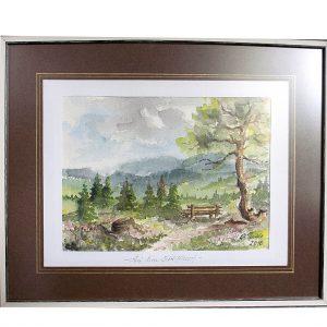 landschaftsmalerei, aquarell, schwarzwald, schliffkopf, hildegard pfeifle
